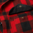 Filson Mackinaw Cruiser Jacket Red Black front pocket detail