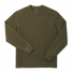 Filson Waffle Knit Thermal Crew Mossy Rock front