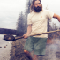 Filson Elwha River Shorts Castor Gray lifestyle at the river