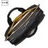 """Knomo Amesbury 15.6"""" Double Zip Briefcase Black"""