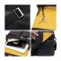 """Knomo Kobe Soft Leather Messenger Bag 15"""" Black details"""