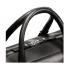Shinola Slim Briefcase Black Zipper Detail
