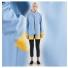 Stutterheim Stockholm Raincoat Blue Fog Frame women effect