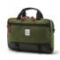 Topo Designs Commuter Briefcase Olive/Black Leather