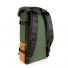 Topo Designs Klettersack Heritage Olive Canvas/Brown Leather back