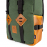 Topo Designs Klettersack Heritage Olive Canvas/Brown Leather detail