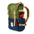 Topo Designs Rover Pack Classic Olive/Navy water bottle