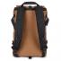 Topo Designs Rover Pack Heritage Dark Khaki Canvas/Dark Brown Leather back