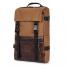 Topo Designs Rover Pack Heritage Dark Khaki Canvas/Dark Brown Leather