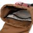 Topo Designs Rover Pack Heritage Dark Khaki Canvas/Dark Brown Leather inside