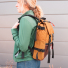 Topo Designs Rover Pack Heritage Duck Brown/Dark Brown Leather women carrying