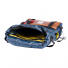 Topo Designs Rover Pack Heritage Navy/Brown Leather inside