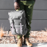Topo Designs Rover Pack Tech Charcoal garb 'n' go top carry handle