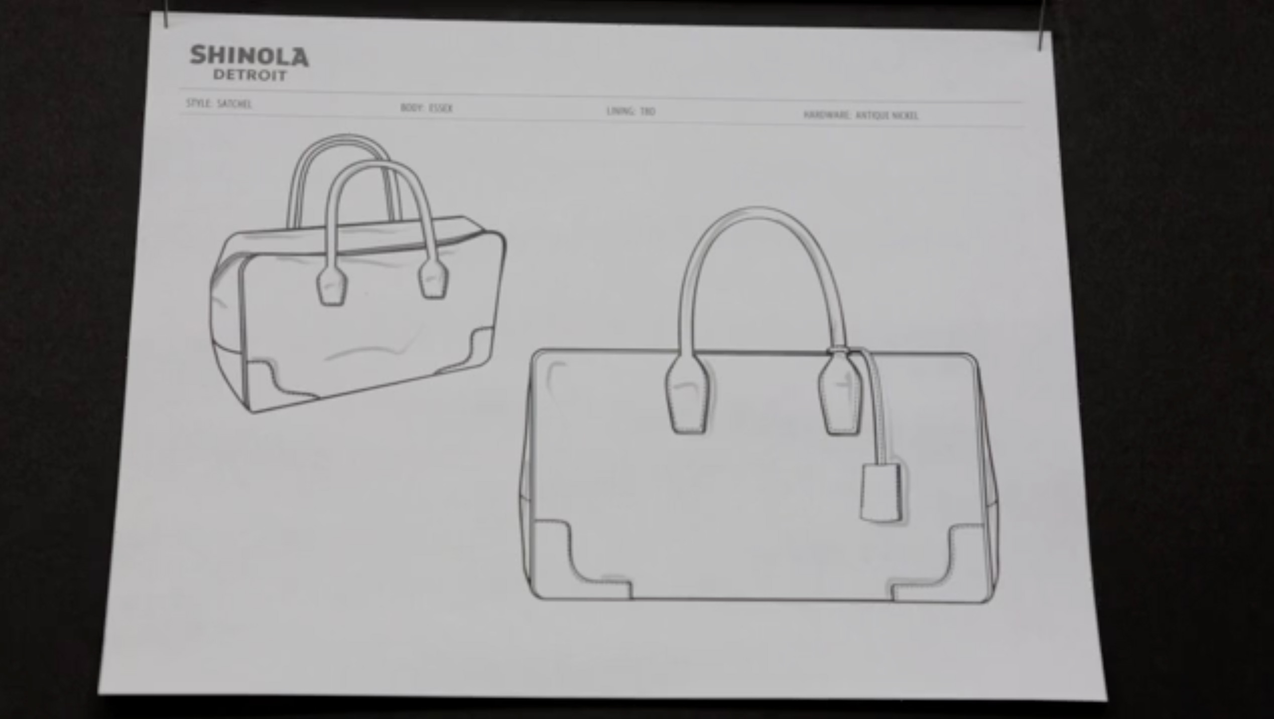 Shinola from sketch to sample
