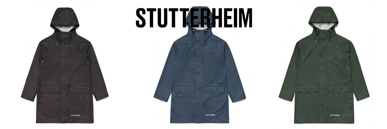 Stutterheim Ekeby Regenjacke, reisefreundliche unisex Regenjacke aus einem neuen, leichten Material