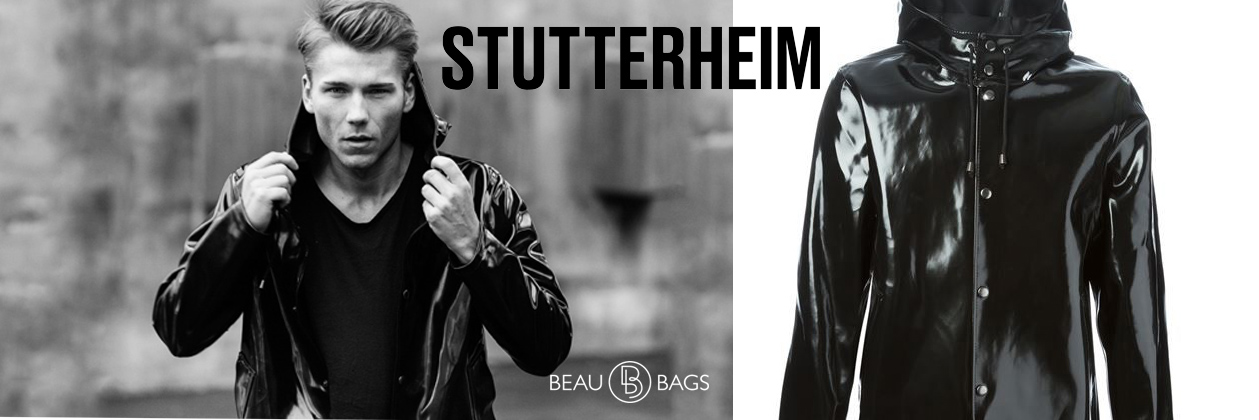 Stutterheim Stockholm Opal Black Raincoat