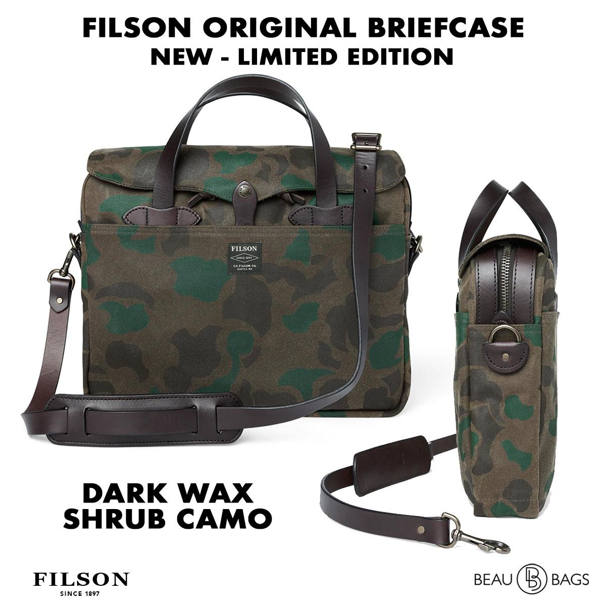 Filson Waxed Rugged Twill Original Briefcase 20226928-Dark Wax Shrub Camo, limitierte Camo Auflage