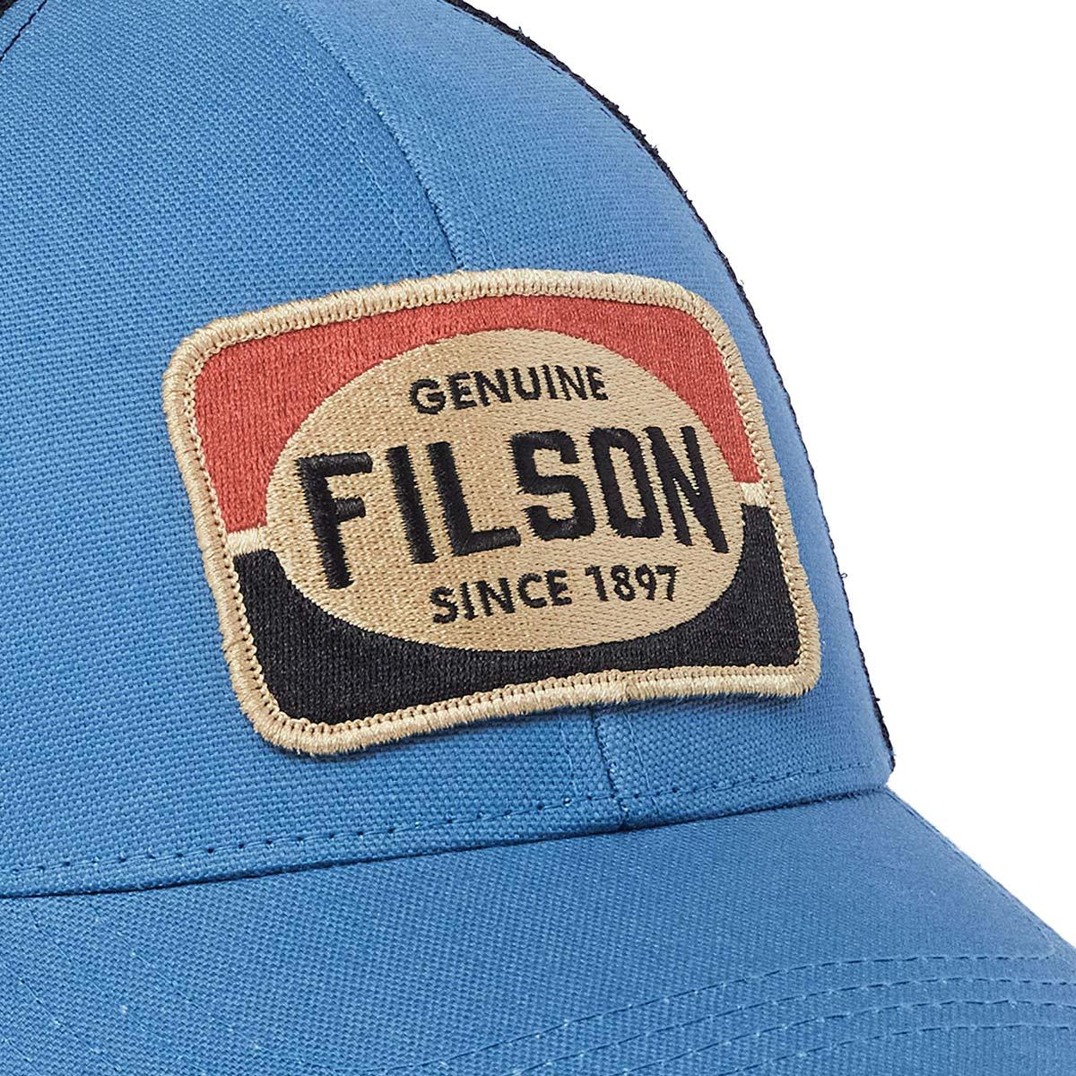 Filson Mesh Snap-Back Logger Cap 20189204-Blue, Robustes 6 Panel Logger Cap mit Mesh Panels für optimale Belüftung