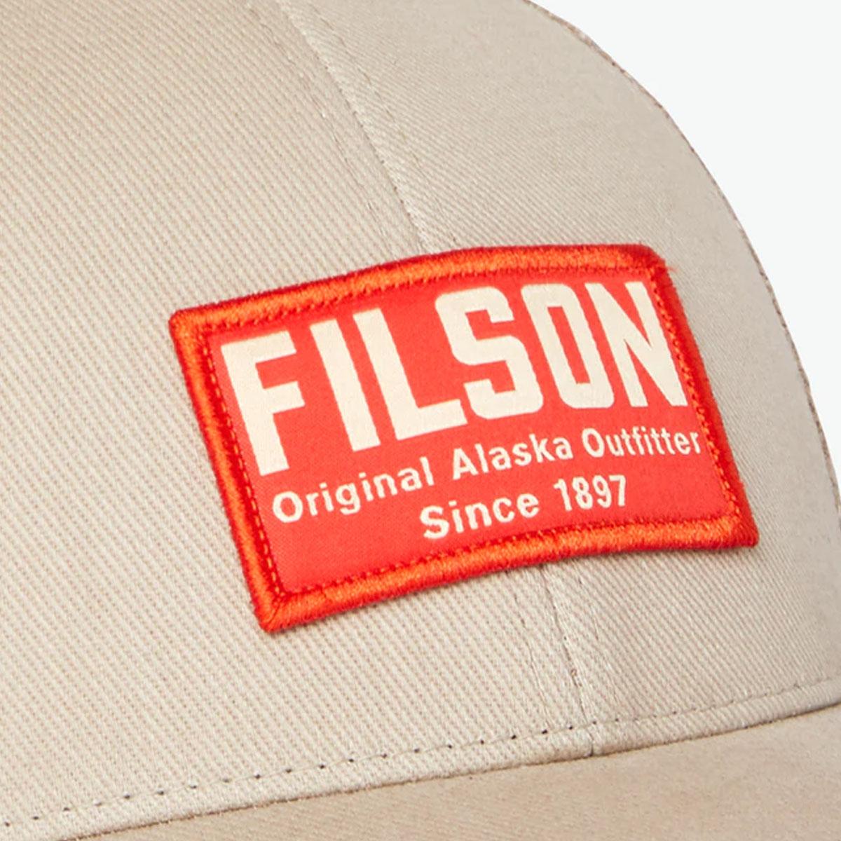 Filson Mesh Snap-Back Logger Cap 20204520-Khaki, Robustes 6 Panel Logger Cap mit Mesh Panels für optimale Belüftung