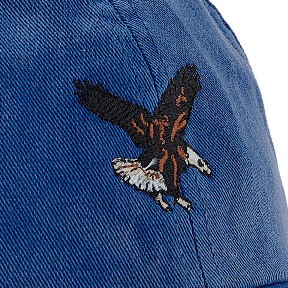 Filson Washed Low Profile Cap 20204530-Bright Blue Eagle, Kappe mit einer stärker abgerundeten Kronenform die vor den Elementen schützt