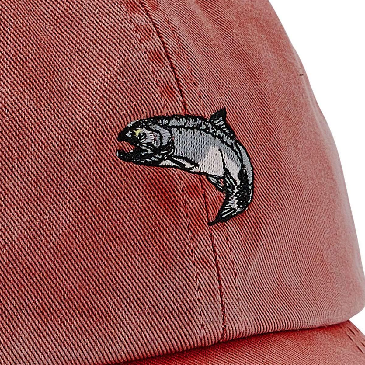 Filson Washed Low Profile Cap 20204530-Faded Red Salmon, Kappe mit einer stärker abgerundeten Kronenform die vor den Elementen schützt
