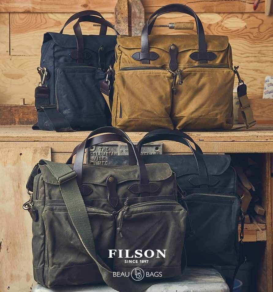 Filson 24-Hour Briefcases Tan, Navy, Black, Otter Green