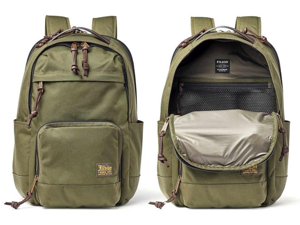 Filson Dryden Backpack Otter Green, Für Reise, Arbeit und Sport. Garantiert