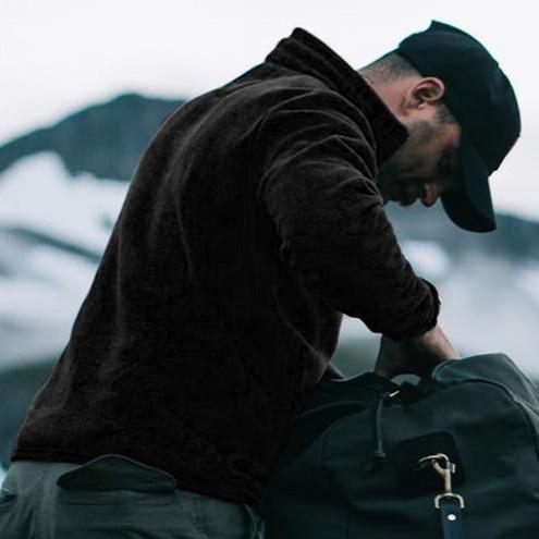 Filson Ridgeway Fleece Jacket Black, Leichtes, schnell trocknendes Polartec&reg-Fleece ist warm, atmungsaktiv und sehr bequem
