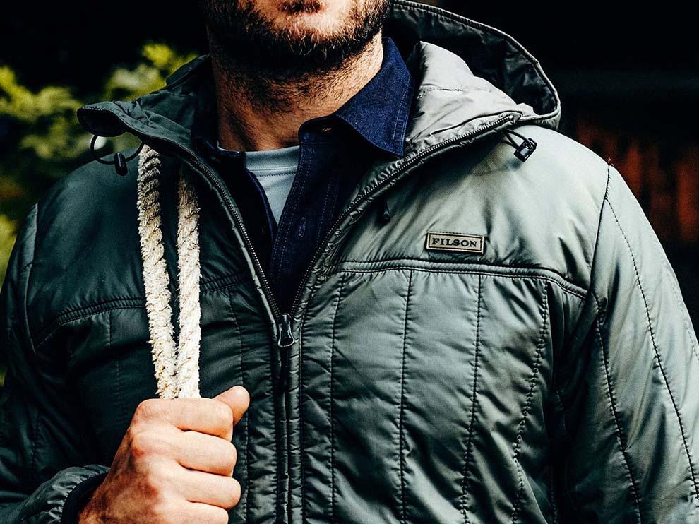 Filson Ultralight Jackets, ideal für den aktiven Gebrauch. Winddicht, warm, atmungsaktiv, extrem leicht und bequem
