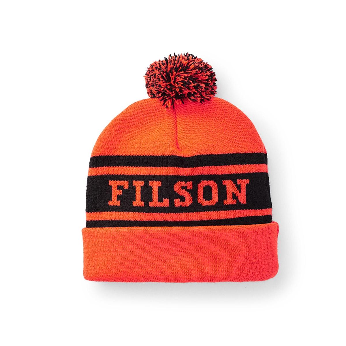 Filson Acrylic Logo Beanie Blaze Orange, leicht und schnell trocknend, ideal bei Regen und Schnee