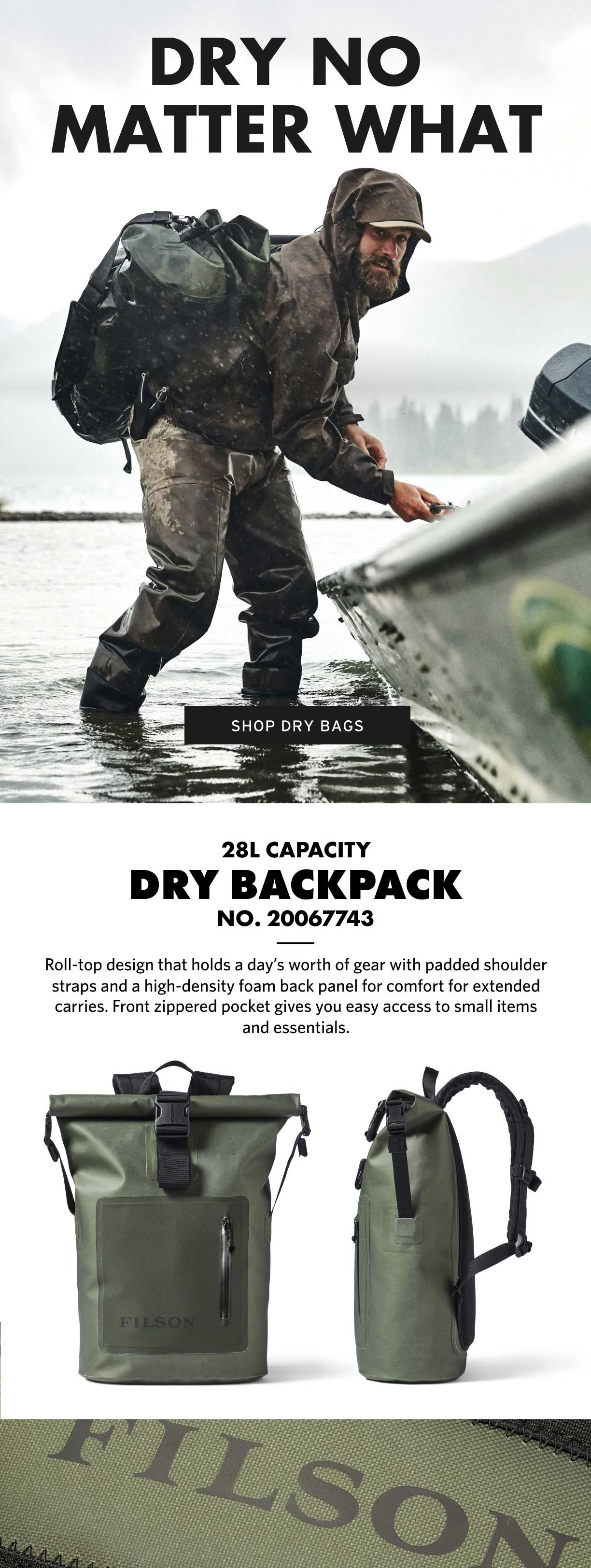 Filson Dry Backpack Productinformation