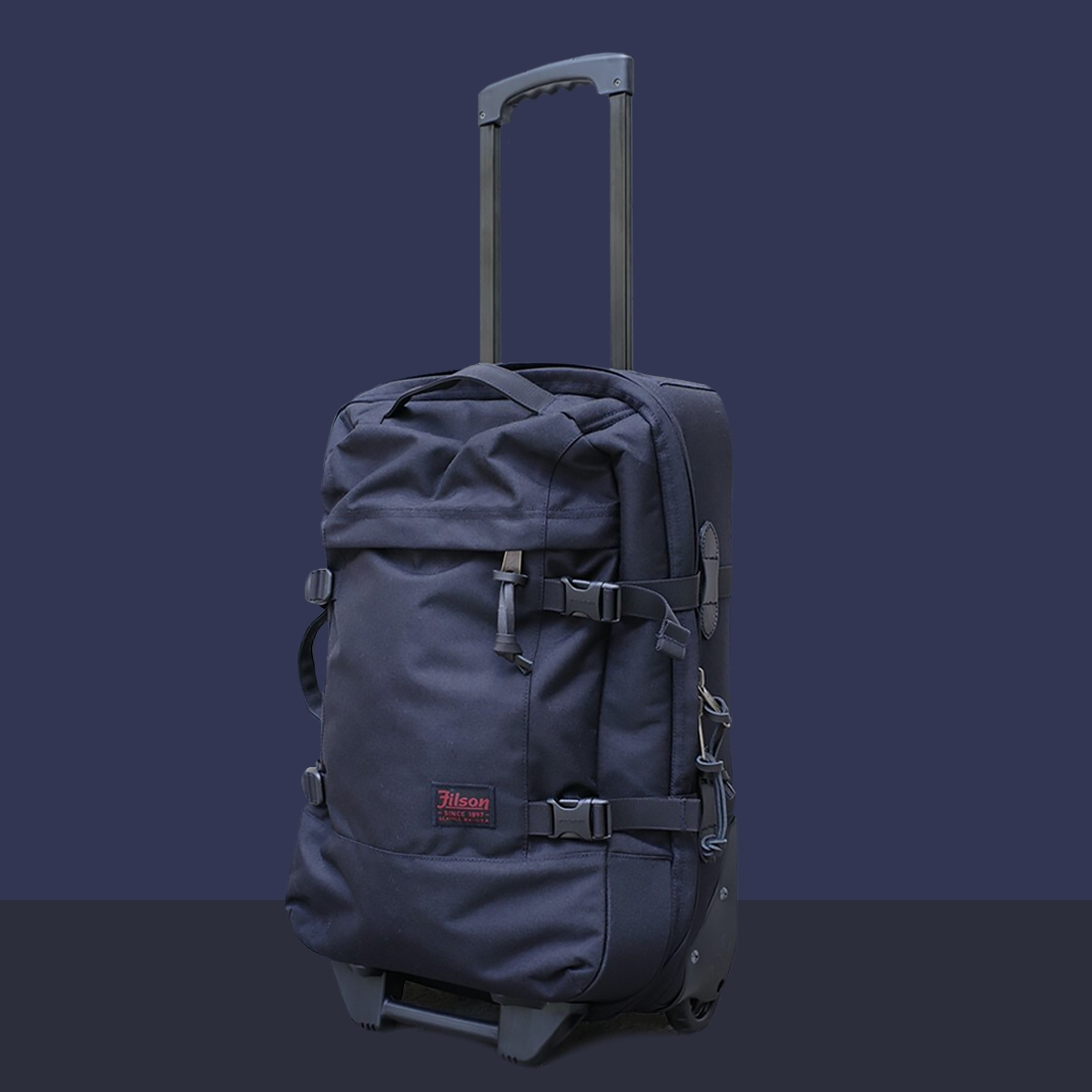 Filson Dryden Dryden 2-Wheel Rolling Carry-On Bag 20047728-Dark Navy, Koffer hergestellt aus reißfestem ballistischem Nylon für jahrelanges, zuverlässiges Reisen