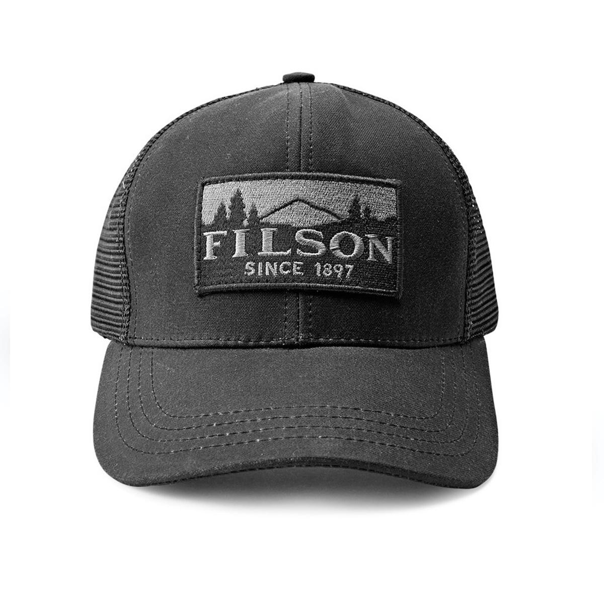 Filson Logger Mesh Cap 11030237-Black,strapazierfähige Kappe aus ikonischem, wasserabweisendem Tin Cloth