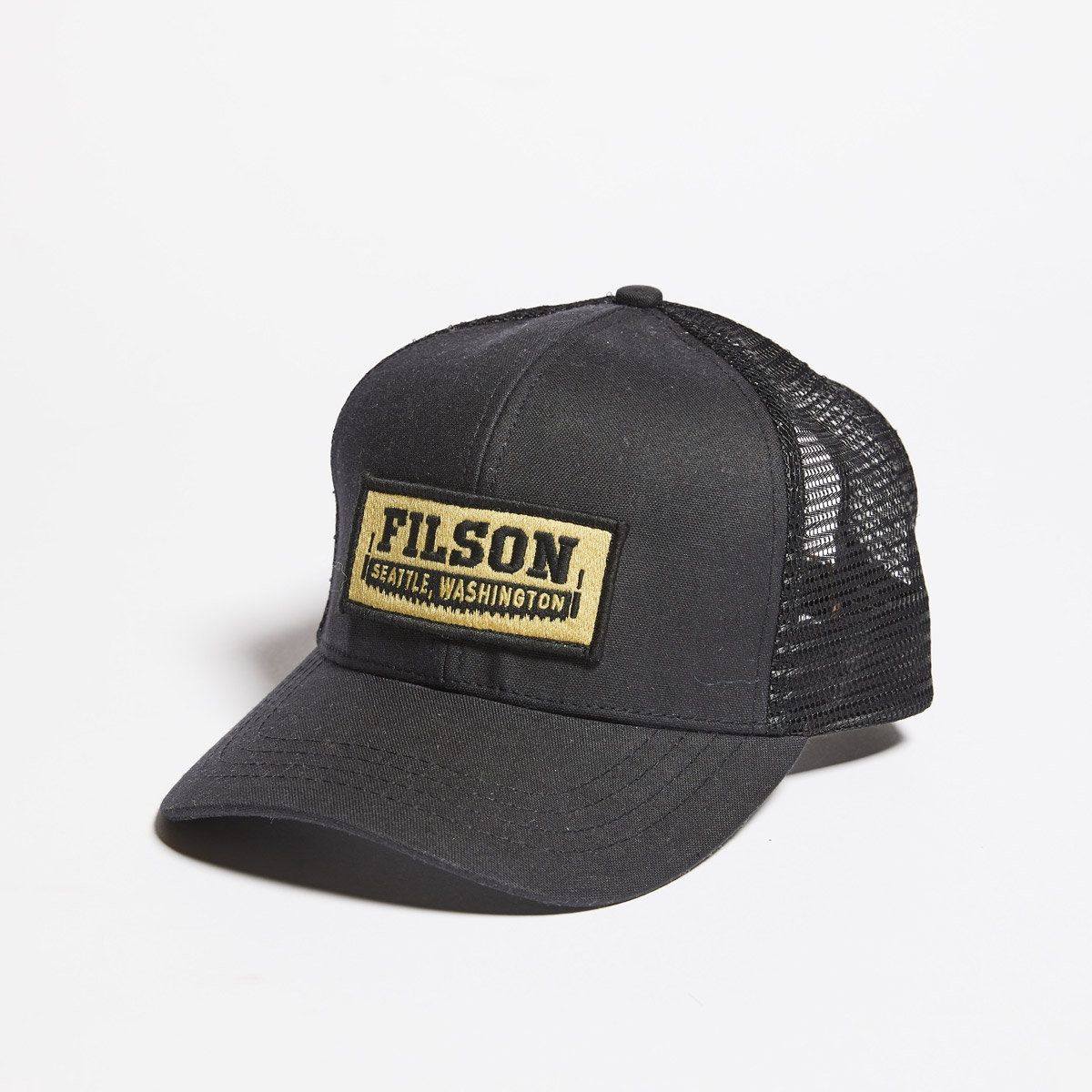 Filson Mesh Logger Cap-Black, Robustes 6 Panel Logger Cap mit Mesh Panels für optimale Belüftung