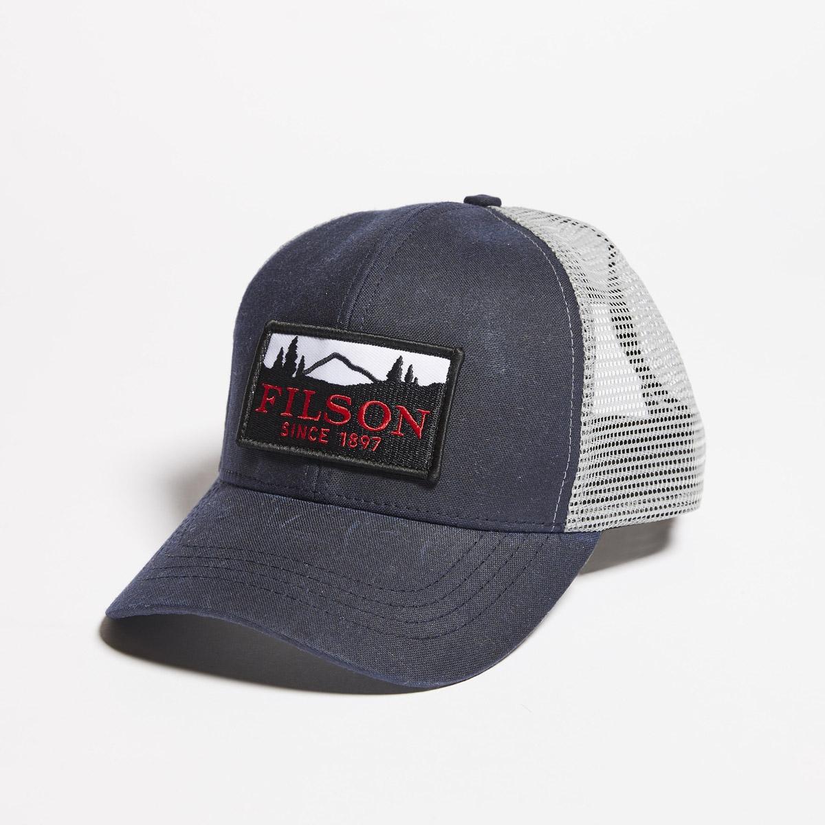 Filson Mesh Logger Cap-Navy, Robustes 6 Panel Logger Cap mit Mesh Panels für optimale Belüftung