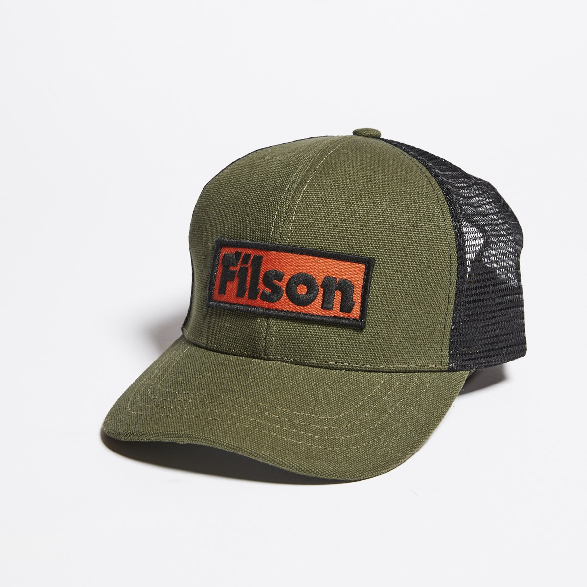 Filson Mesh Logger Cap-Black, Robustes 6 Panel Logger Cap mit Mesh Panels für optimale Belüftung