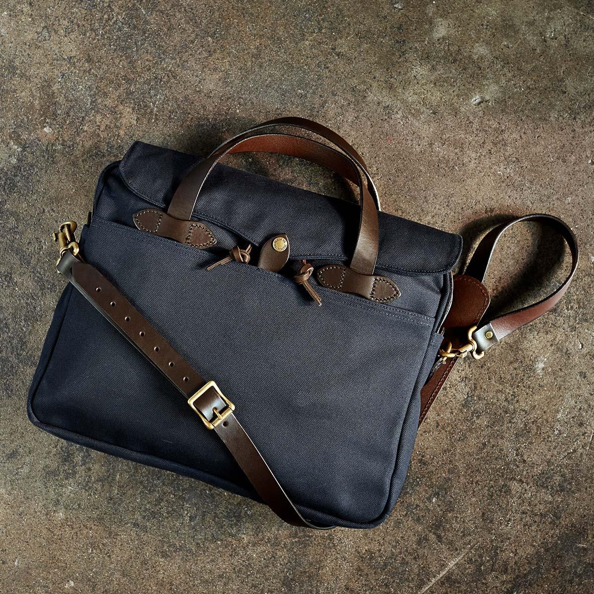 Filson Original Briefcase 11070256 Navy a rugged, vintage inspired, briefcase