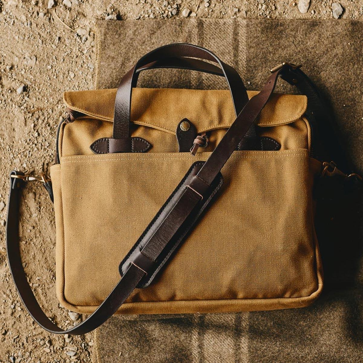 Filson Original Briefcase 11070256 Tan a rugged, vintage inspired, briefcase