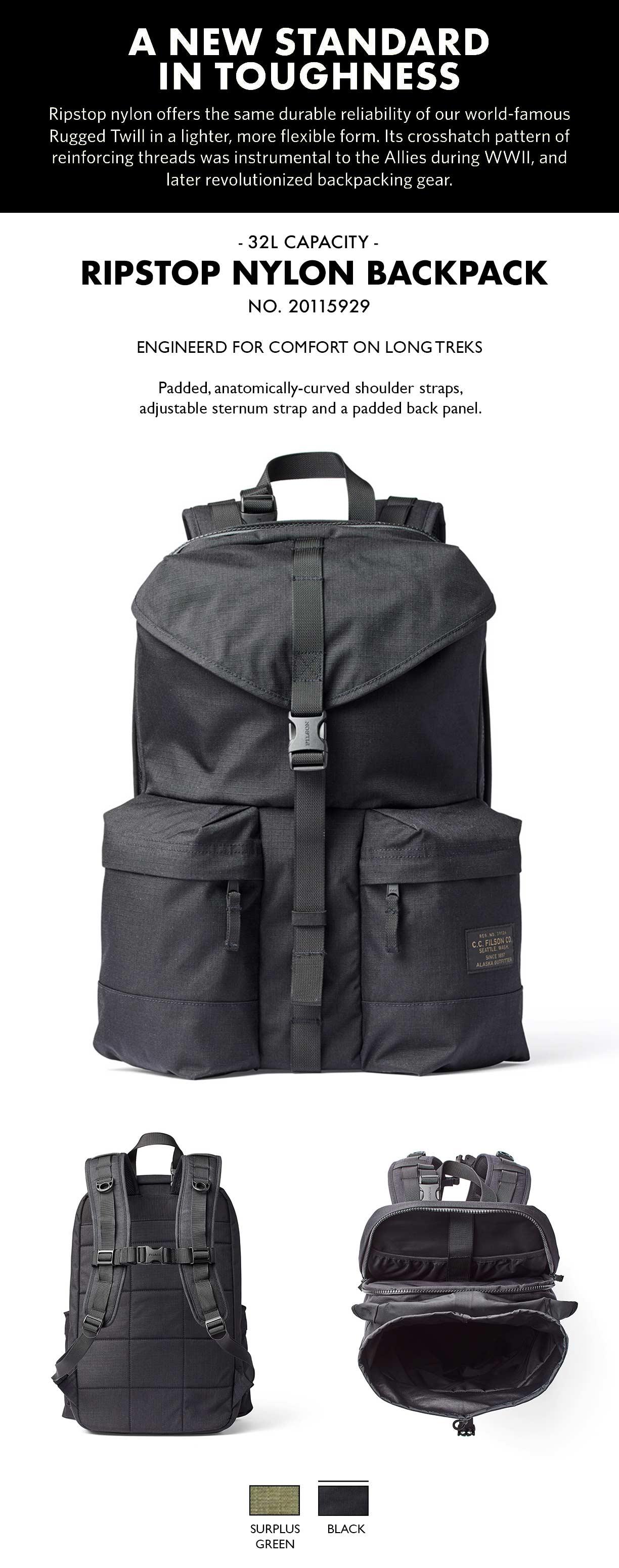 Filson Ripstop Backpack Surplus Green Produkt-informationen
