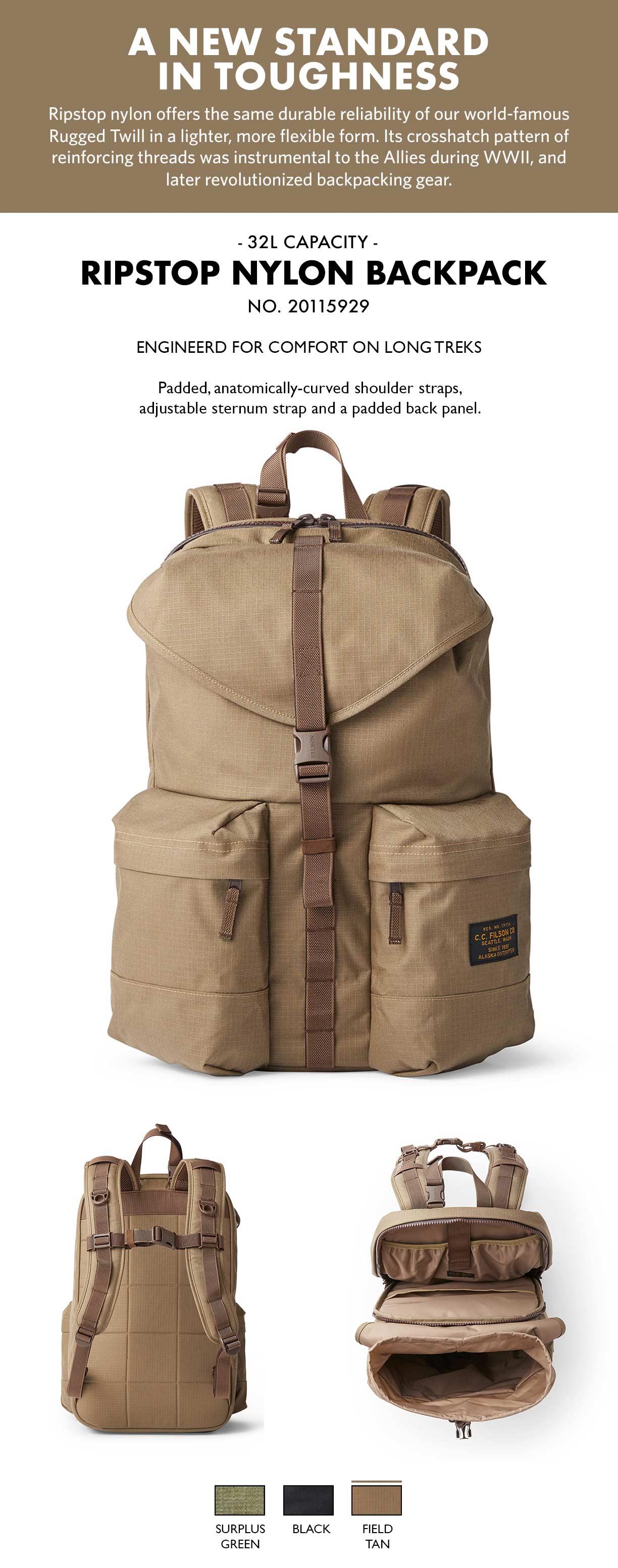 Filson Ripstop Backpack Field Tan Produkt-informationen