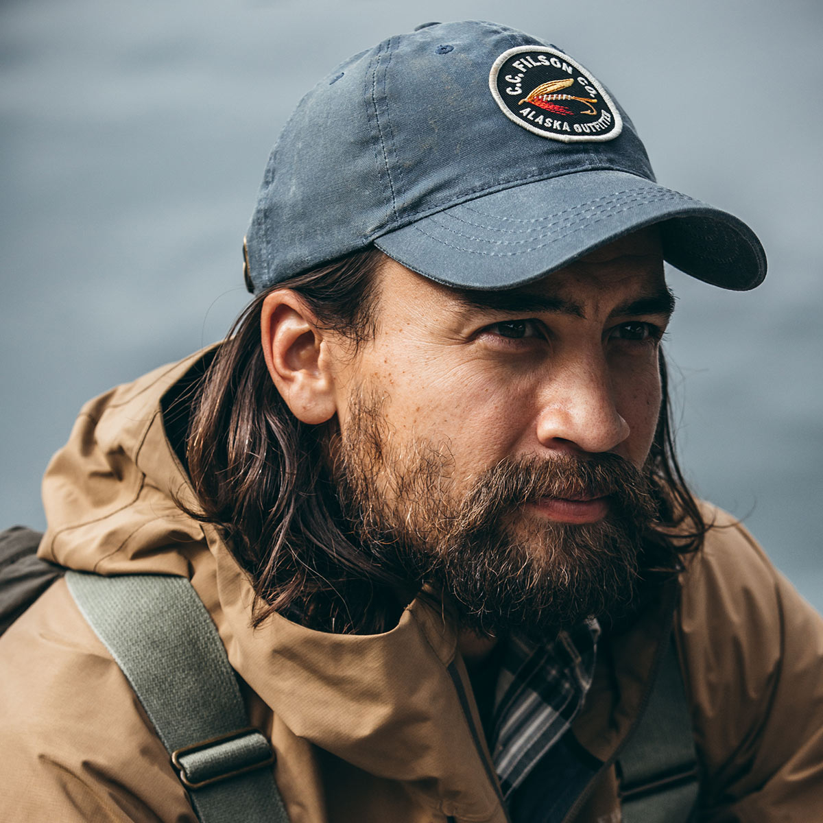 Filson Sail Cloth Low-Profile Cap Slate, low-profile cap that protects from the elements