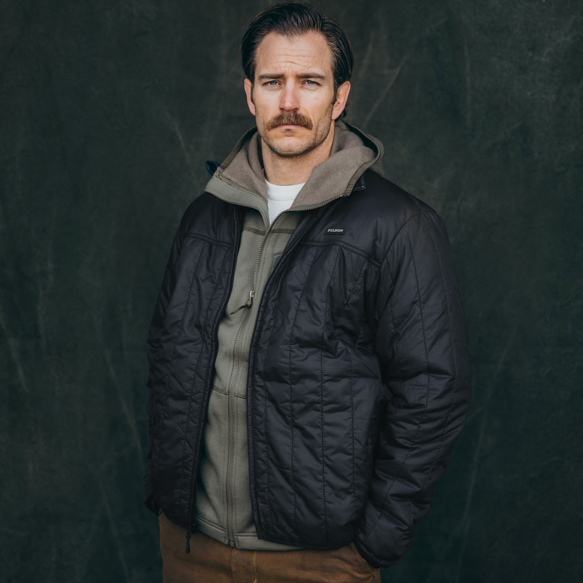 Filson Ultra Light Jacket Black, with Cordura® Ripstop nylon and 60gm PrimaLoft® Gold insulation