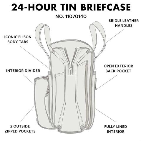 Filson 24-Hour Tin Briefcase Black, diese tolle Tasche ist der perfekte Geschäftspartner auf Reisen