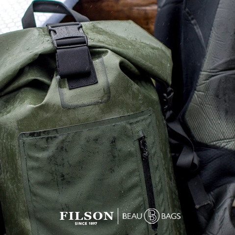 Filson Dry Backpack, keeps your gear dry in any weather