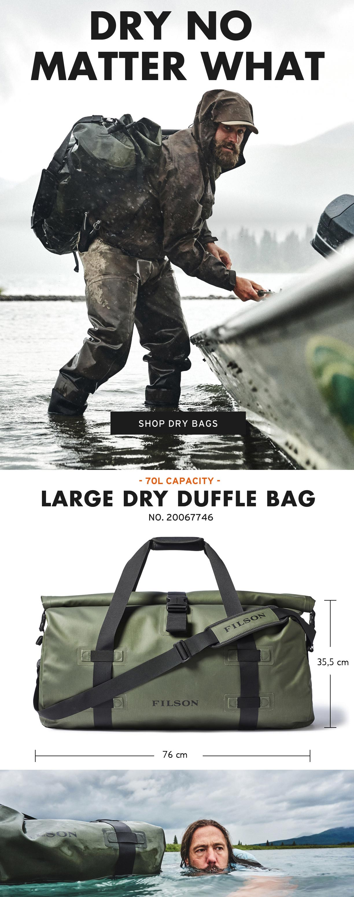 Filson Dry Duffle Large Productinformation