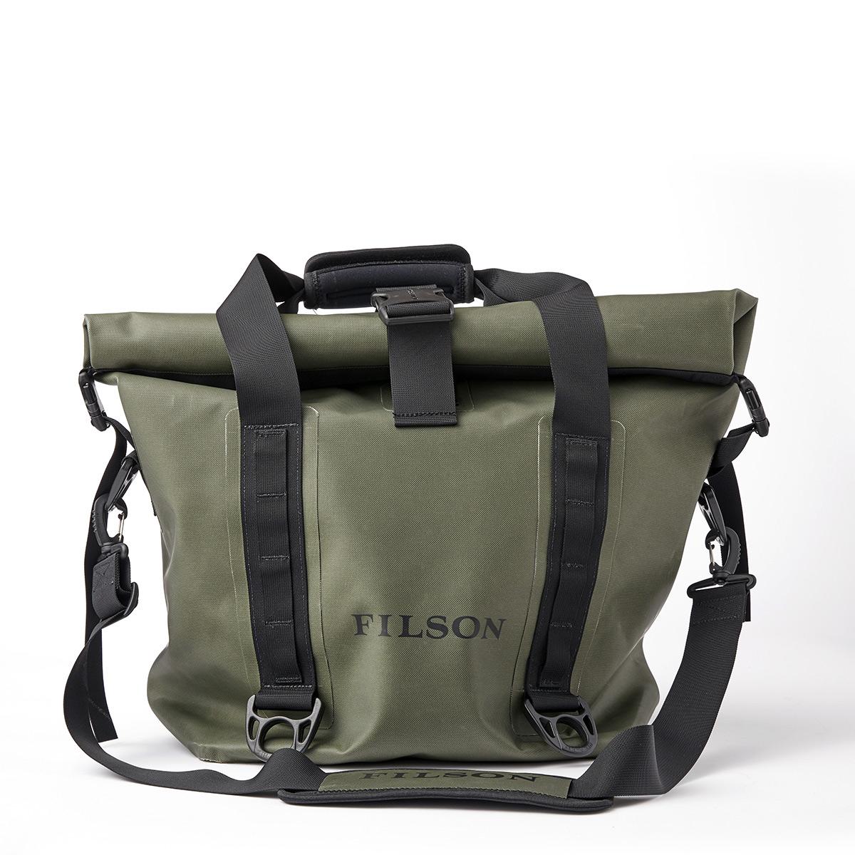 Filson Dry Roll-Top Tote Bag Green, für den Einsatz bei allen Wetterbedingungen
