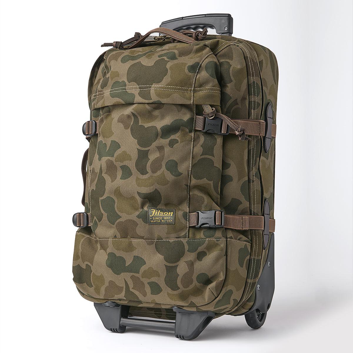 Filson Dryden Dryden 2-Wheel Rolling Carry-On Bag 20047728-Dark Shrub Camo, Koffer hergestellt aus reißfestem ballistischem Nylon für jahrelanges, zuverlässiges Reisen