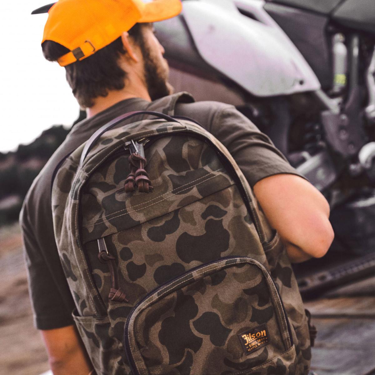 Filson Dryden Backpack 20152980 Dark Shrub Camo lifestyle