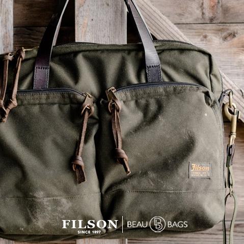 Filson Ballistic Nylon Dryden Briefcase Otter Green