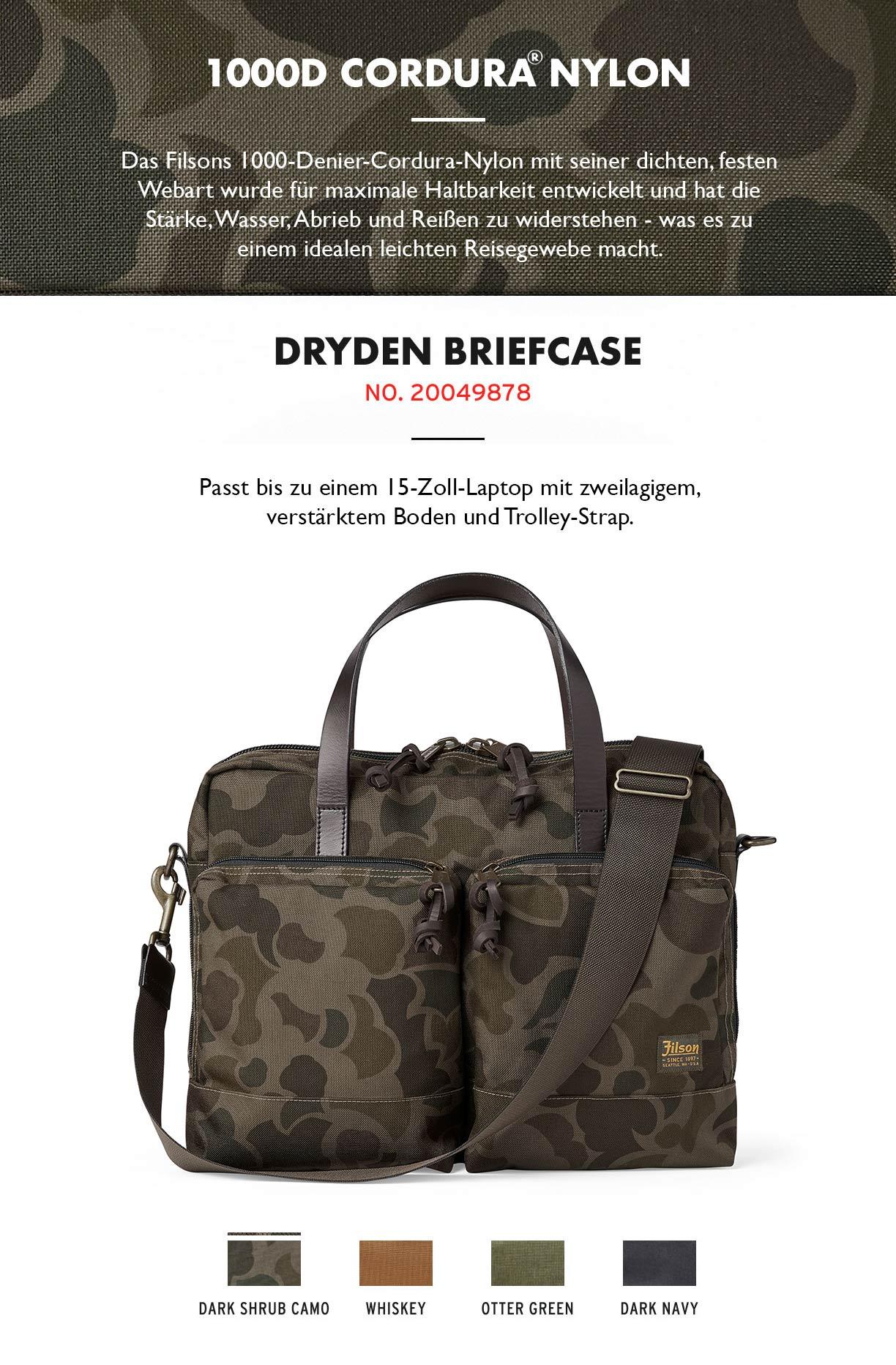 Filson Dryden Briefcase Dark Shrub Camo Product-information